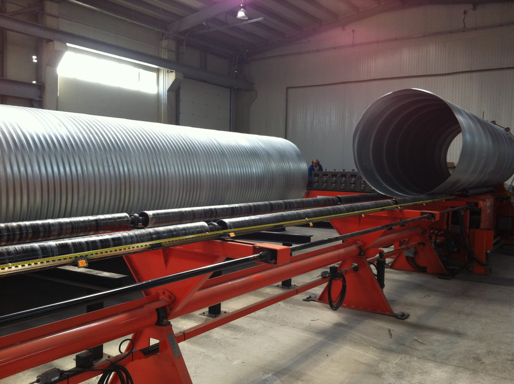 Corrugated steel pipe csp mill spiral culvert